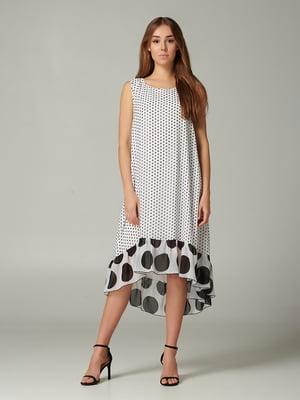 Платье белое с принтом | 5441332