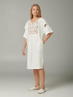 Сукня молочного кольору з візерунком | 5441348