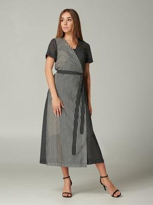 Платье черное в полоску | 5441363