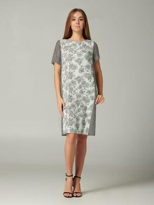 Платье бирюзовое с принтом | 5441364