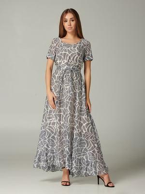 Платье молочного цвета с принтом | 5441370