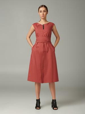Платье терракотового цвета   5483704