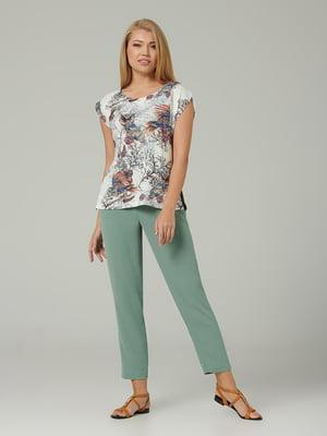 Блуза молочного цвета с принтом   5483707
