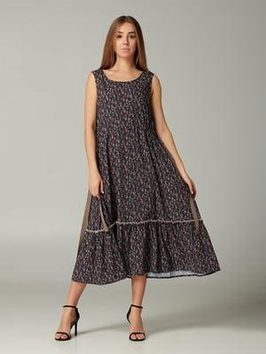 Платье фиолетовое с принтом | 5483723