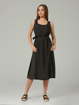 Платье черное в горох | 5483729