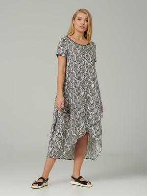 Платье молочного цвета с принтом | 5483738