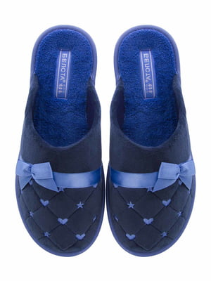 Тапочки сині з декором | 5503023