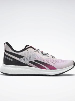 Кросівки рожево-бордові з логотипом | 5503002