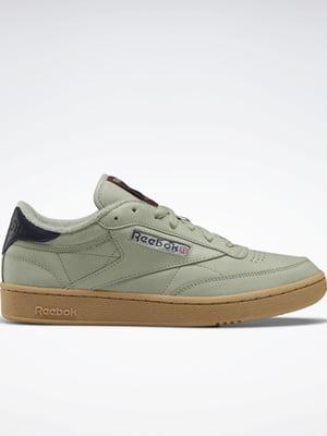 Кросівки кольору хакі з логотипом | 5503006