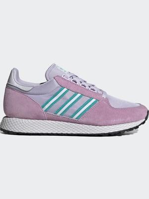 Кроссовки сиренево-фиолетового цвета с логотипом | 5503127