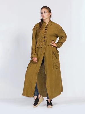 Пальто горчичного цвета | 5503863