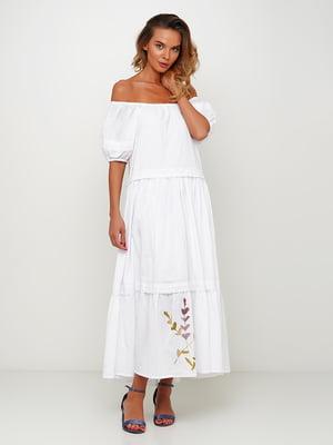 Платье белое с принтом | 5504163