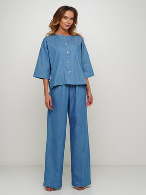 Блуза синяя | 5504172