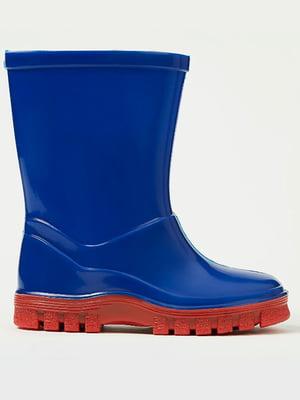 Сапоги резиновые сине-красные | 5504643