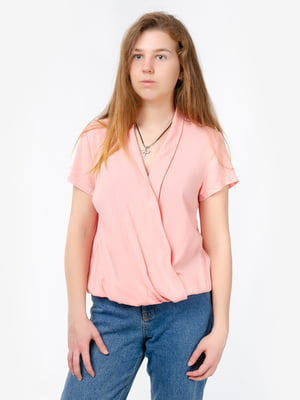 Блуза кольору пудри | 5504655