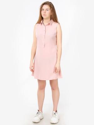 Сукня-сорочка кольору пудри | 5504688