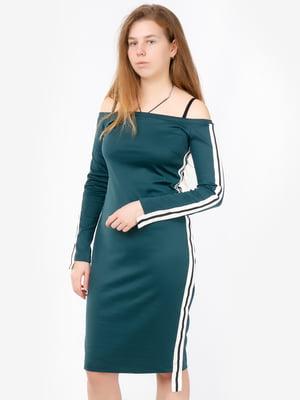Платье зеленое с логотипом | 5504686