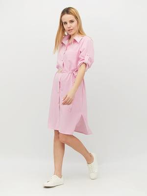 Платье розовое в полоску | 5504920