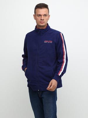 Олимпийка сине-красного цвета с логотипом | 5507318