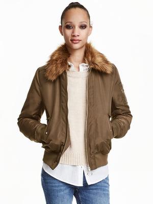 Куртка цвета хаки | 5507449