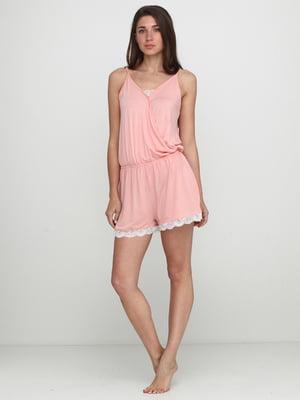Комбінезон рожево-білий | 5507628
