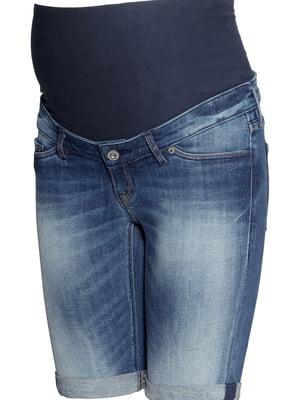 Шорты джинсовые для беременных синие | 5504964