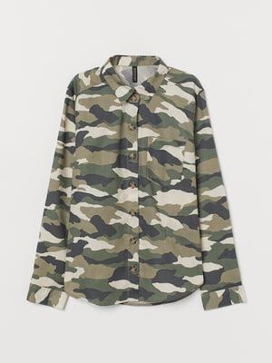 Рубашка в камуфляжный принт   5508871