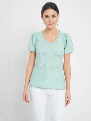 Блуза бірюзова   5508140