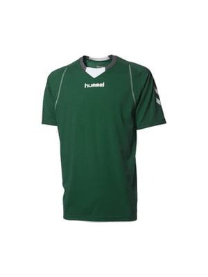 Футболка зеленая с логотипом | 5421645