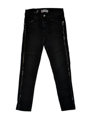 Джинси чорні з декором | 5509682