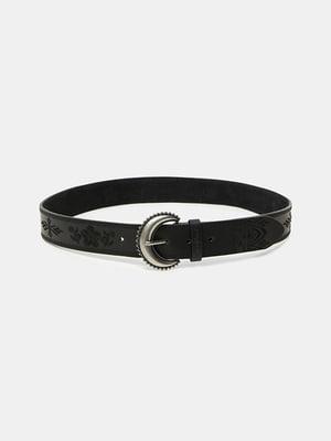 Ремінь чорний з візерунком | 5509033