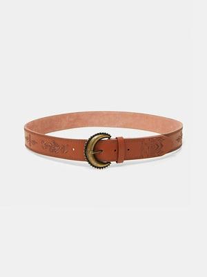 Ремінь коричневий з візерунком | 5509034