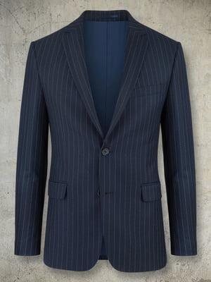 Пиджак синий в полоску | 5509924