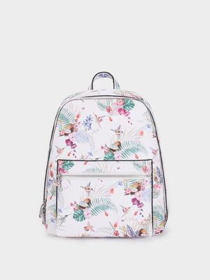 Рюкзак белый в принт | 5442660
