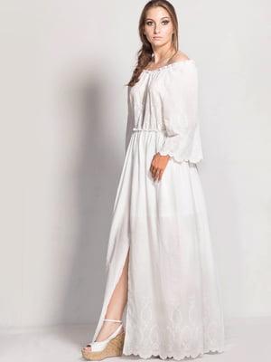 Платье белое с вышивкой | 5509943