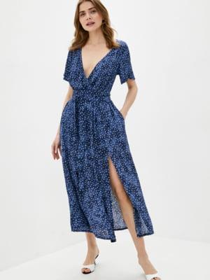 Платье синее в принт | 5509959