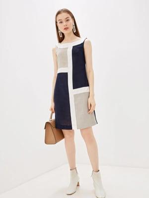 Сукня сіро-синя | 5509960