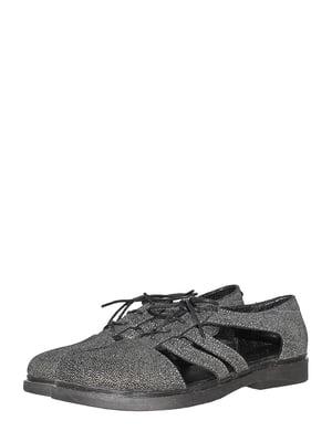 Туфлі кольору чорний меланж | 5506949
