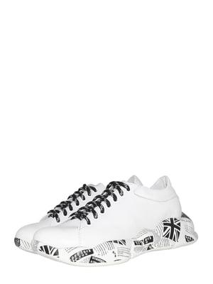 Кросівки білі з принтом   5506971