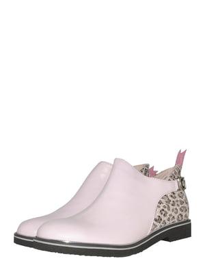 Ботинки розового цвета с анималистическим узором | 5510213
