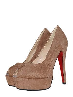 Туфлі кавового кольору | 5510235