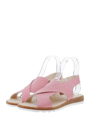 Босоніжки рожевого кольору з принтом | 5485605