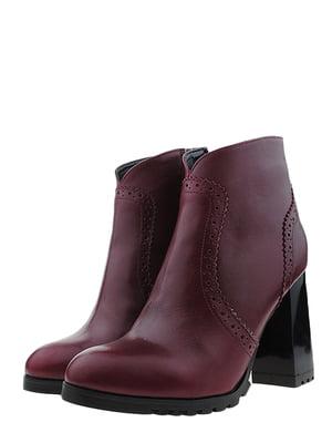 Ботинки бордовые | 5507862