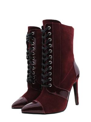 Ботинки бордовые | 5507865