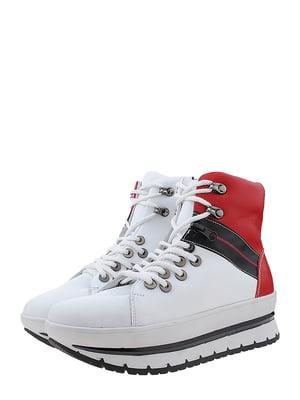 Ботинки бело-красного цвета | 5507961
