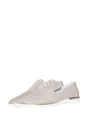 Туфлі бежевого кольору з перфорацією | 5499224