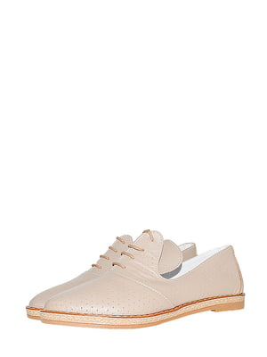 Туфлі кавового кольору з перфорацією | 5499227