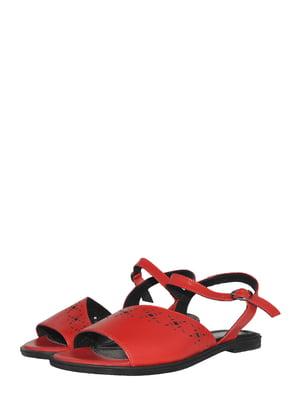 Босоножки красного цвета с перфорацией | 5500704