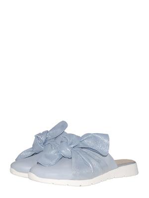 Шльопанці блакитного кольору | 5507035
