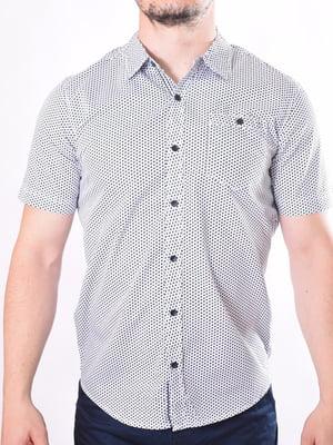 Рубашка белая в крапинку | 5488741